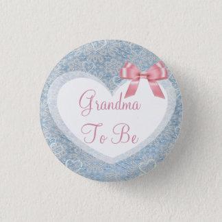 Badge Grand-maman à être bouton rose et bleu de baby