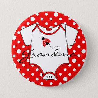 Badge Grand-maman à être coccinelle rouge et blanche