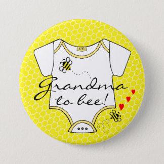 Badge Grand-maman à l'abeille