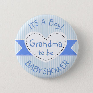Badge Grand-maman bleue de bouton de baby shower à être
