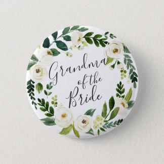 Badge Grand-maman florale de guirlande d'albâtre de la