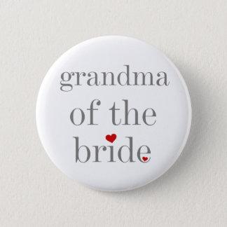Badge Grand-maman grise des textes de jeune mariée