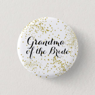 Badge Grand-maman mignonne de parties scintillantes d'or