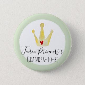 Badge Grand-papa-à-est le baby shower de princesse Girl