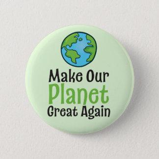 Badge Grande encore norme de planète, bouton rond de