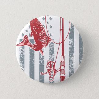 Badge Grandes chemises de pêche de drapeau américain