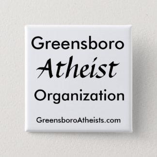 Badge Greensboro, athée, organisation, GreensboroAt…