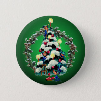 Badge GUIRLANDE d'ELFES, d'ARBRE et de SAPIN par SHARON