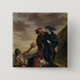 Badge Hamlet et Horatio dans le cimetière