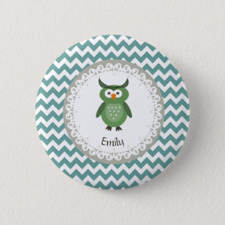 Badge Hibou girly de fantaisie à la mode mignon