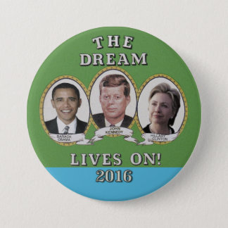 Badge Hillary Clinton, Barack Obama et John Kennedy