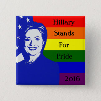 Badge Hillary représente la fierté