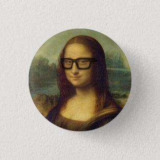 Badge Hippie Mona Lisa en verres da Vinci de hippie