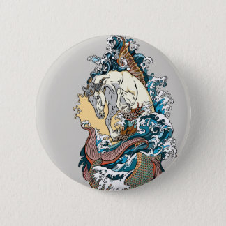 Badge hippocampe mythologique