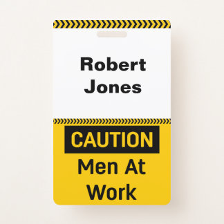 Badge Hommes de PRÉCAUTION au travail