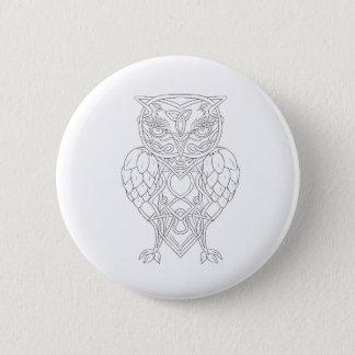 Badge Houblon et Celtic Knotwork de hibou d'orge