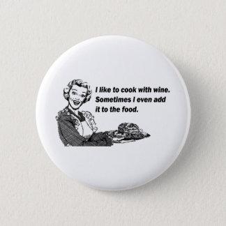 Badge Humour de chef et de cuisinier - cuisine avec du