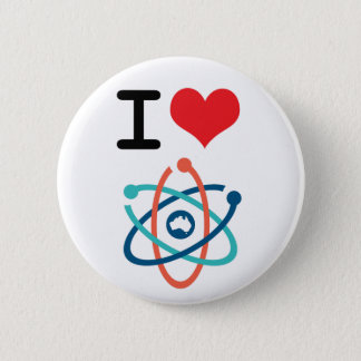 Badge I la Science de coeur -