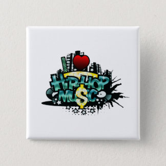 Badge I musique de hip hop de coeur