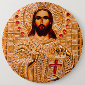 Badge Icône d'or de Jésus-Christ