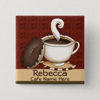 Badge Identification de nom de personnel de café