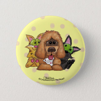 Badge Idiot et chat avec l'adoption de Sassie-Animal