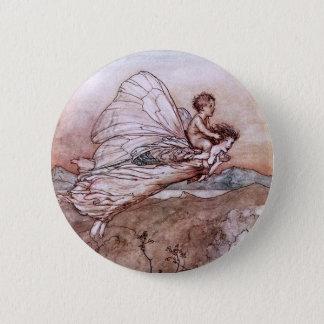 Badge Illustration antique de fée d'Arthur Rackham