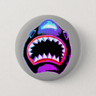 Badge Illustration d'aquarelle de requin