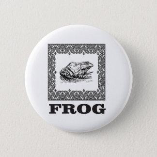 Badge illustration encadrée de grenouille