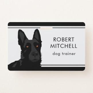 Badge Insigne de berger allemand de noir d'entraîneur de
