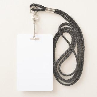 Badge Insigne en plastique avec la lanière