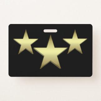 Badge Insigne en plastique d'étoile - horizontal