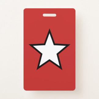 Badge Insigne en plastique d'étoile - verticale