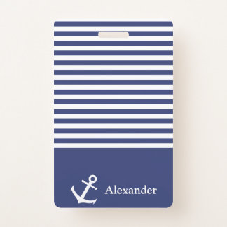 Badge Insigne nautique nommé fait sur commande d'ancre