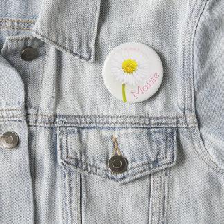 Badge Insigne personnalisable de fleur de marguerite