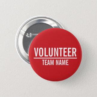 Badge Insigne volontaire de rouge avec le nom fait sur