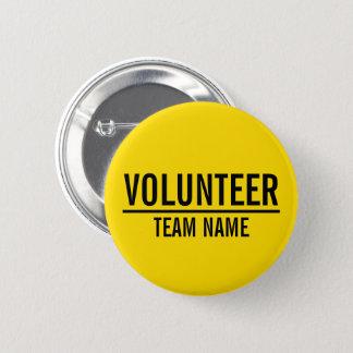 Badge Insigne volontaire jaune avec le nom fait sur