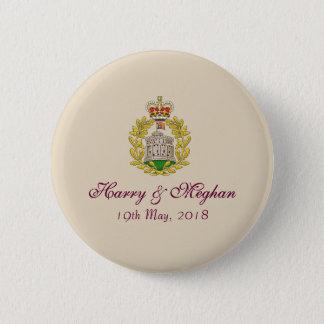 Badge Insignes royaux de bouton de Harry et de mariage