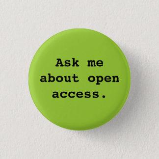 Badge Interrogez-moi au sujet de l'accès ouvert