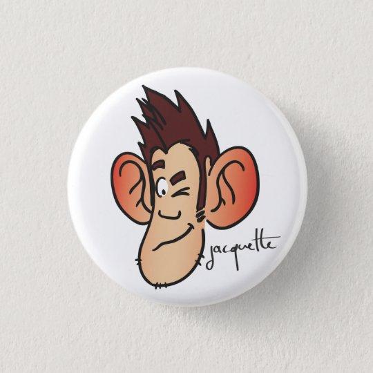 Badge jacquette avatar clin d'oeil