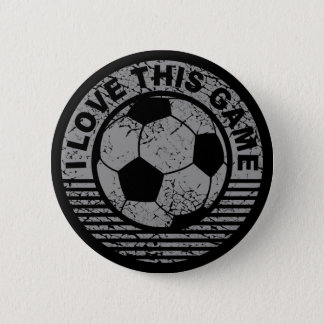 Badge J'aime ce jeu - grunge du football/football