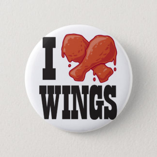 Badge J'aime des ailes de poulet