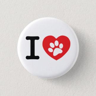 Badge J'aime des animaux familiers