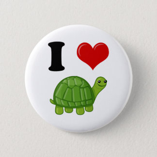 Badge J'aime des tortues