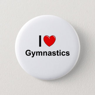 Badge J'aime la gymnastique de coeur