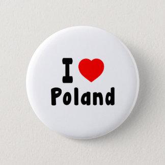 Badge J'aime la Pologne