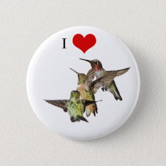 Badge J'aime le bouton de colibris