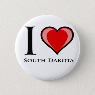 Badge J'aime le Dakota du Sud