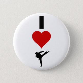 Badge J'aime le karaté (vertical)