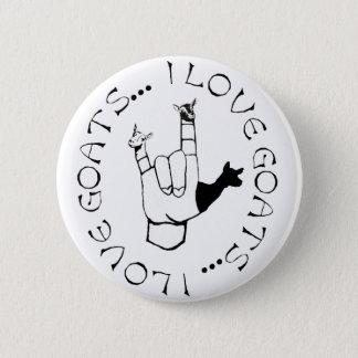 Badge J'aime le symbole de main de langue des signes